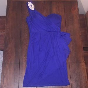 Xscape Royal Blue Cocktail Dress